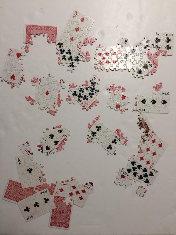 52 pickup card jigsaw puzzle