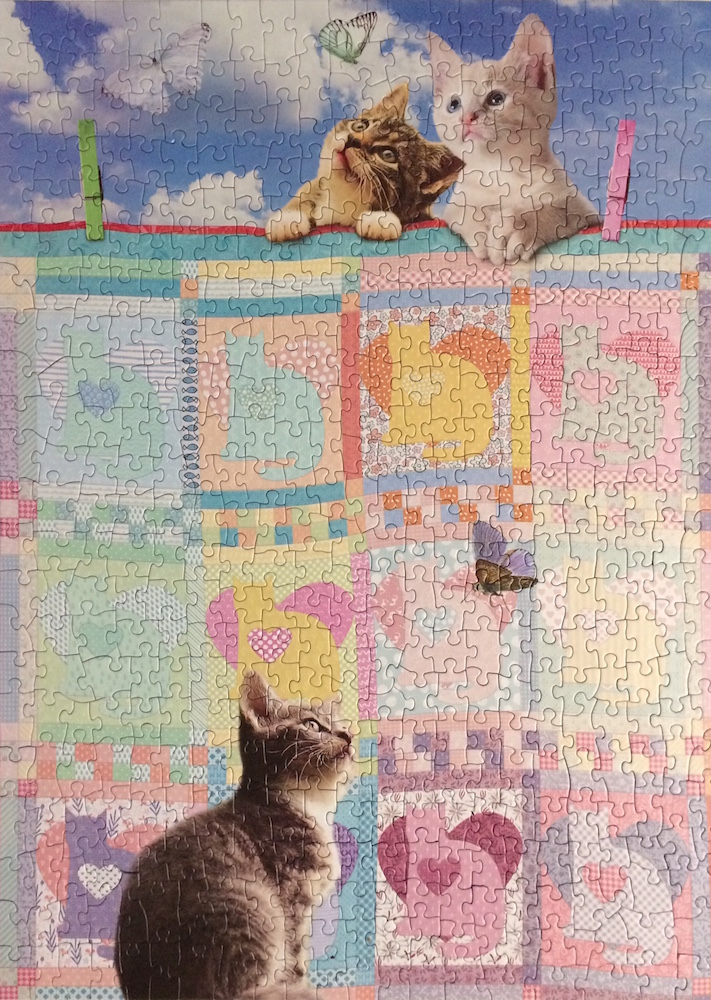 Brand: Cobble Hill Puzzle Company Title: Quilted-Kittens-Puzzle Pieces: 500 Size: 26.625