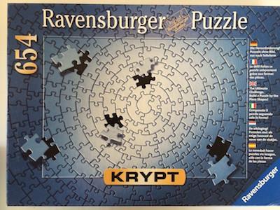 Ravensburger 654 Silver Krypt Jigsaw Puzzle
