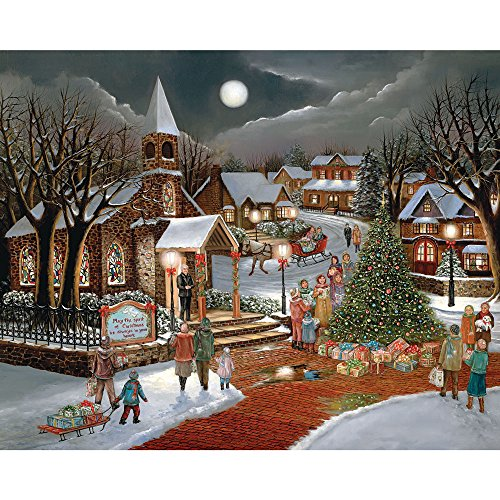500 Piece Jigsaw Puzzle for Adults Dairy Farm Winter Bits and Pieces 500 pc Cows on the Farm Jigsaw by Artist Bob Fair