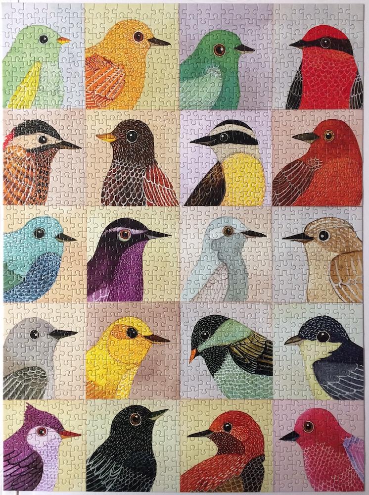 Brand: Galison  Title: Avian Friends Jigsaw Puzzle  Artist: Geninne D Zlatkis  Pieces: 1000  Size: 20 x 27