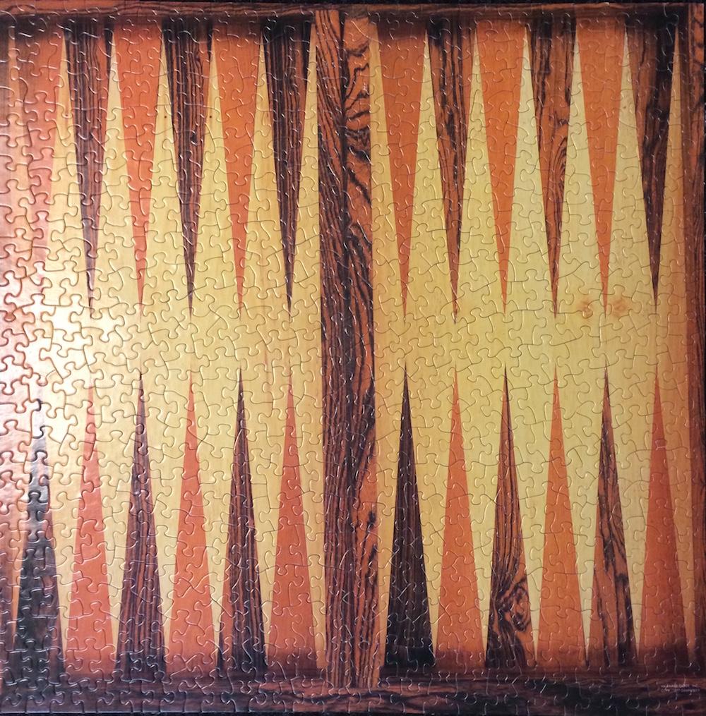 Backgammon-jigsaw-puzzle, Springbok Jigsaw-gammon