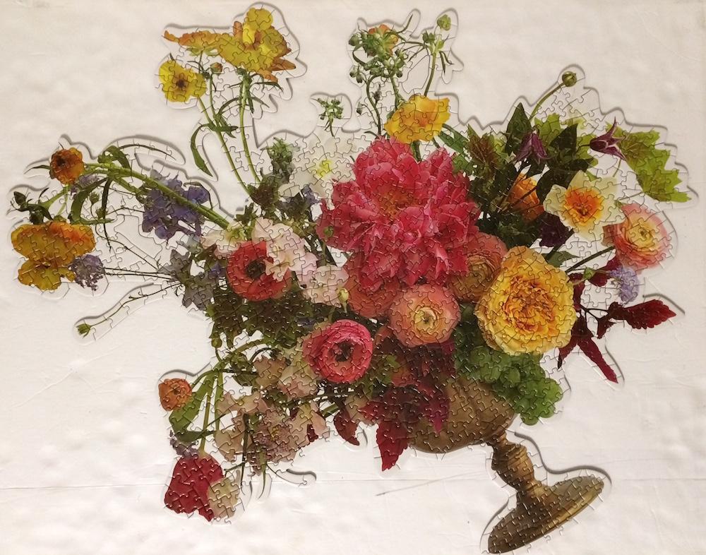 Brand: Galison Puzzles Title: Bouquet puzzle Artist: Ashley Woodson Baile Pieces: 750 Size: (approx.) 25