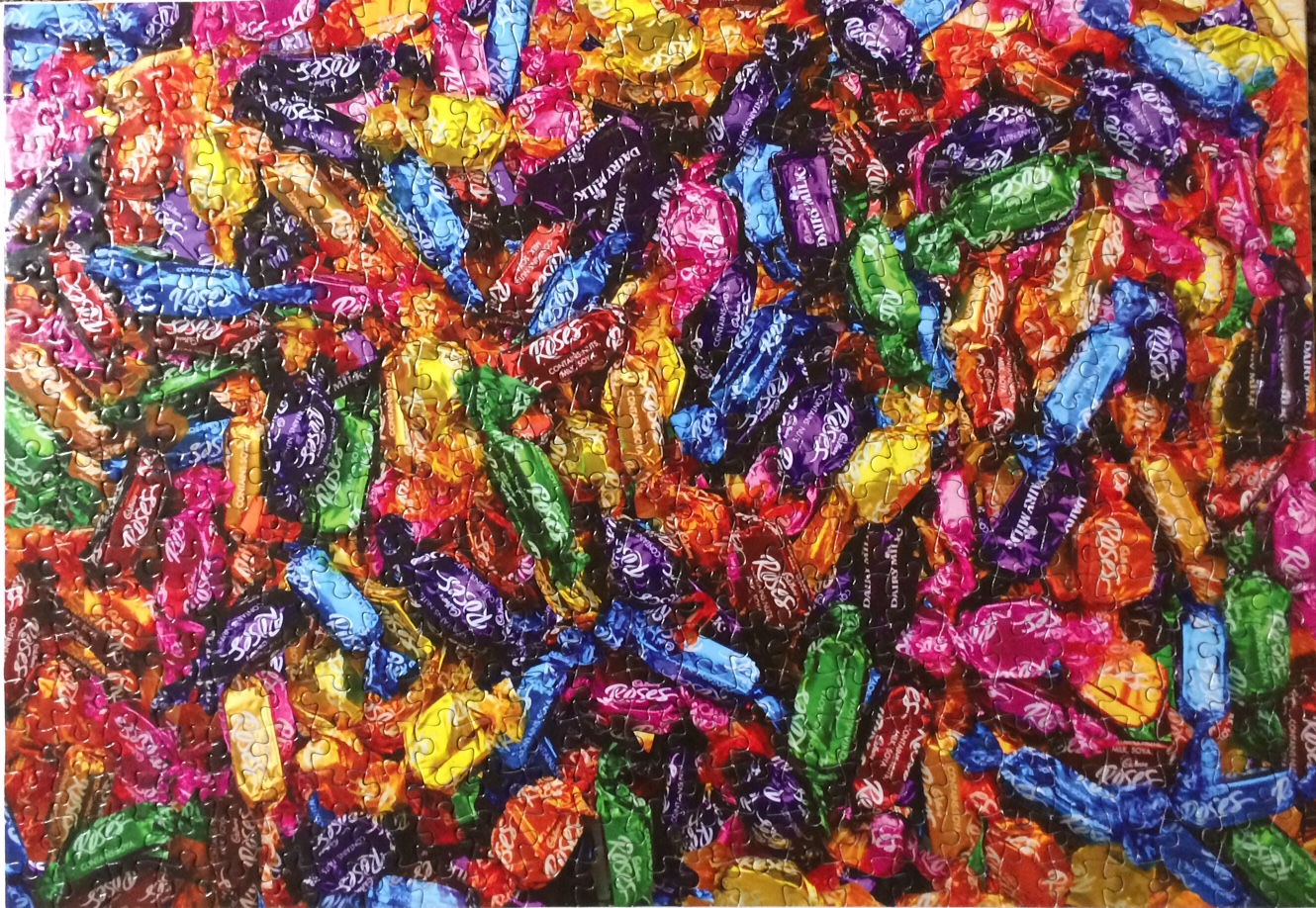 Title: Cadbury's Roses Jigsaw Puzzle No. of Pieces: 500 Size: 50 x 35cm - approximately 14