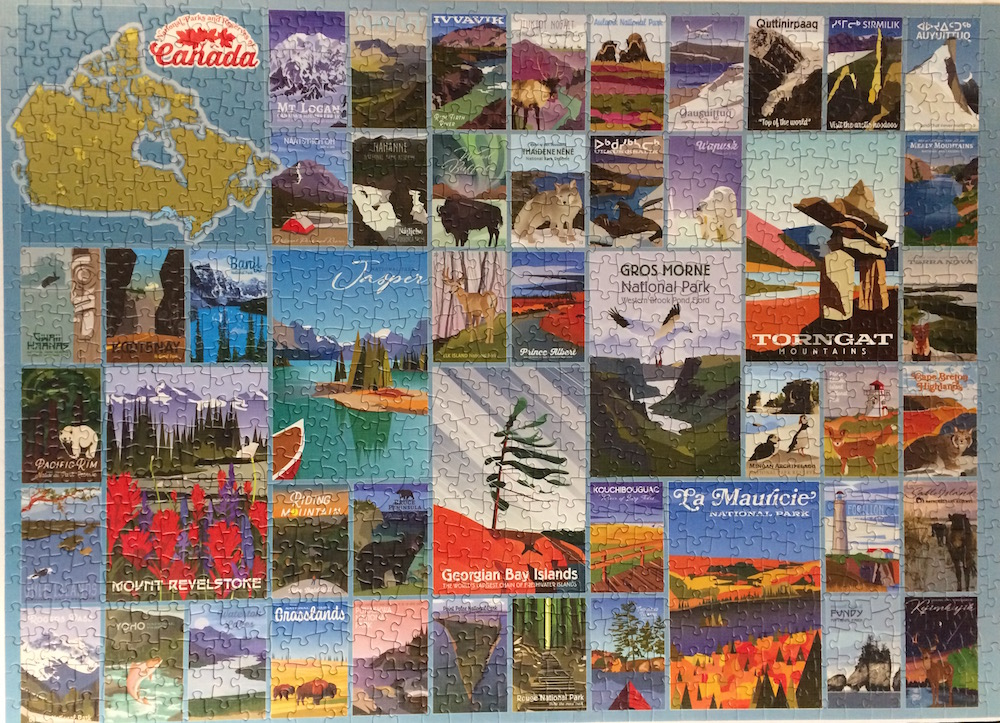 Brand: Cobble Hills Puzzle Company Title:  Canada Parks Recreation Artist: Cobble Hills Company Pieces: 1000 Size:  19.25