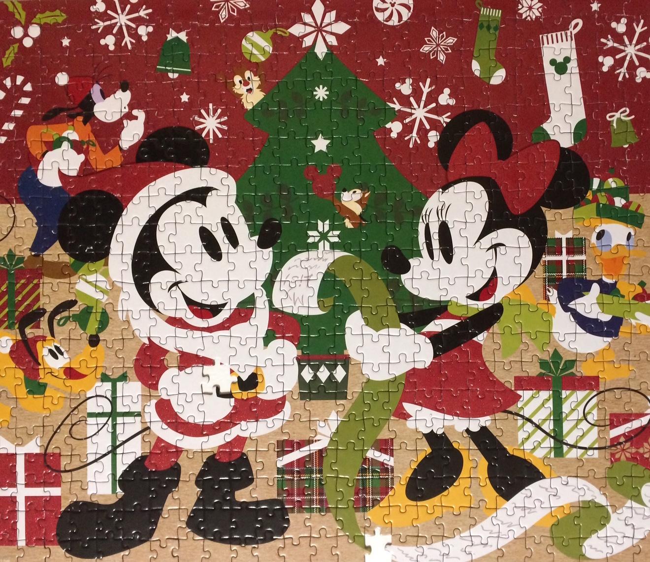 Brand: Disney  Title: Mickey Christmas Jigsaw Puzzle  Size: 12.2 x 8.2