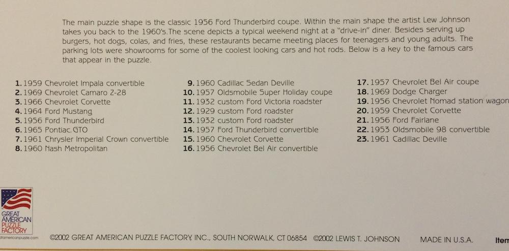 4 x 36 pieces Cars 2 Puzzle Sculpture