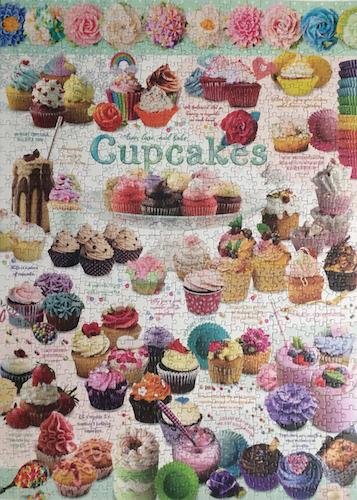 Brand: Cobble Hills Puzzle Company  Title:  Cupcakes puzzle  Pieces: 1000  Size:  48.9 x 67.6cm or 19.25 x 26.625″