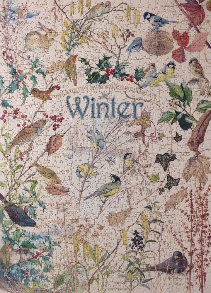 Brand: Cobble Hill Puzzle Company  Title: Diary of an Edwardian Lady Jigsaw Puzzles - Winter  Pieces: 1000  Size: 19.25x26.625