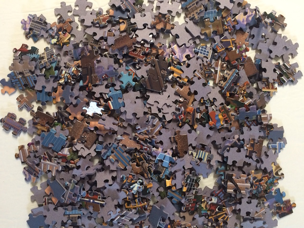 Sorting Through The 2nd Calgary Pile Looking For Missing Piece 1st Jigsaw Puzzle