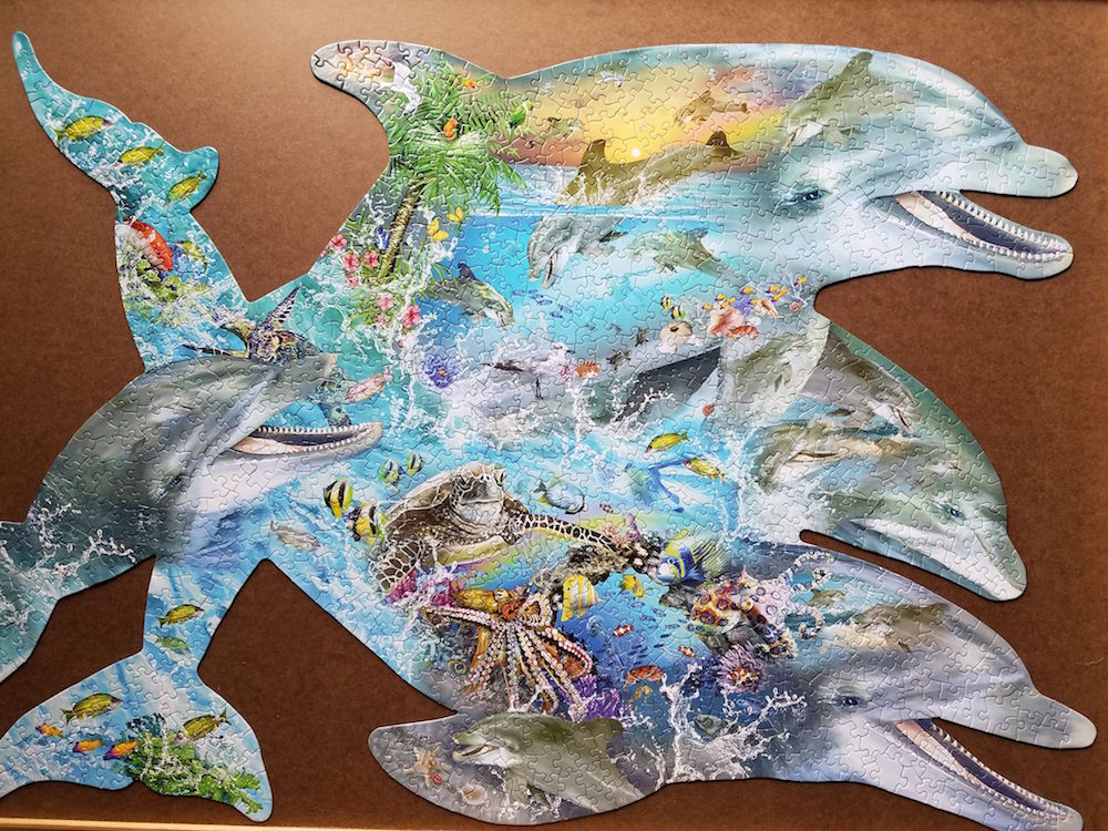 Souvenirs of the Sea 1000pc Shaped Jigsaw Puzzle by Lori Schory