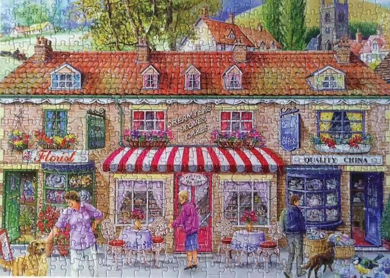 Brand: House of Puzzles   Title: Friday Street puzzle  Pieces: 500  Size: 13.5 x 19