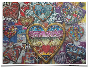 ARTIST-ANIE-MALTAIS-Glass-of-Hearts-JaCaRou-Puzzles-1000-Pieces