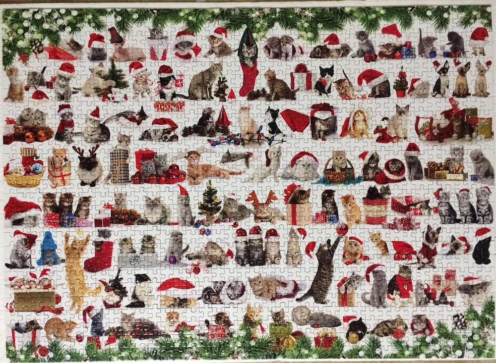 Brand: Eurographics  Title: Holiday Cats Puzzle (Christmas Kittens)  Size: 19.25