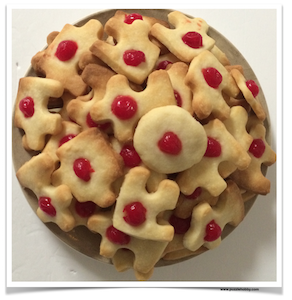 Jigsaw Puzzle Shaped Cookies