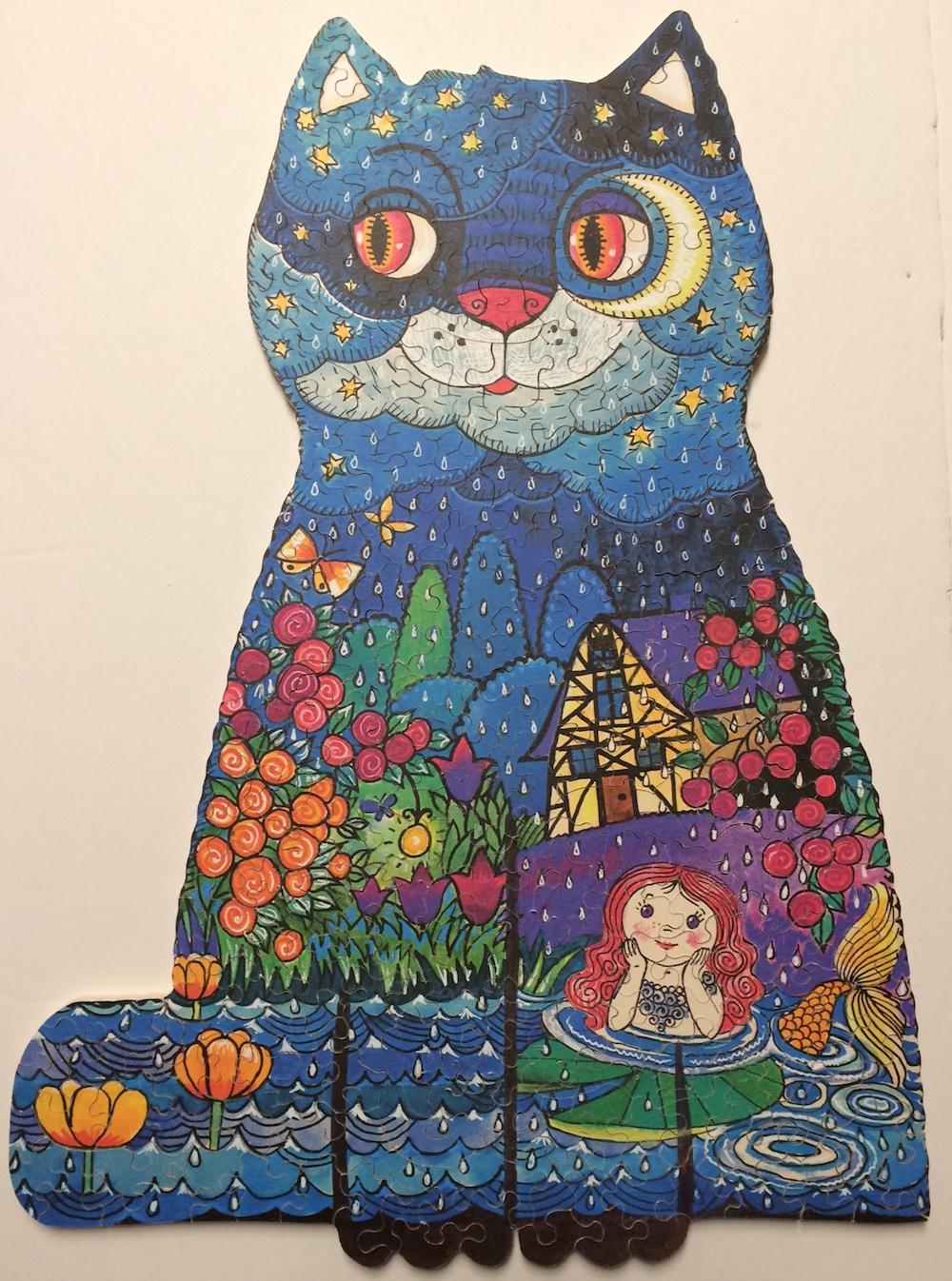 "Brand: Platinum Puzzles Title: Night Cat By: Diane (Dee) Rogers Artist: Oxana Zaika Size: 10.5"" x 14.5"""