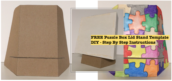 Free Puzzle Box Lid Stand Template