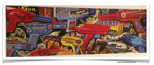 ARTIST-JOHN-PADLO-RayGun-Extravaganza,-Smash-Giant-Puzzles-500-Pieces