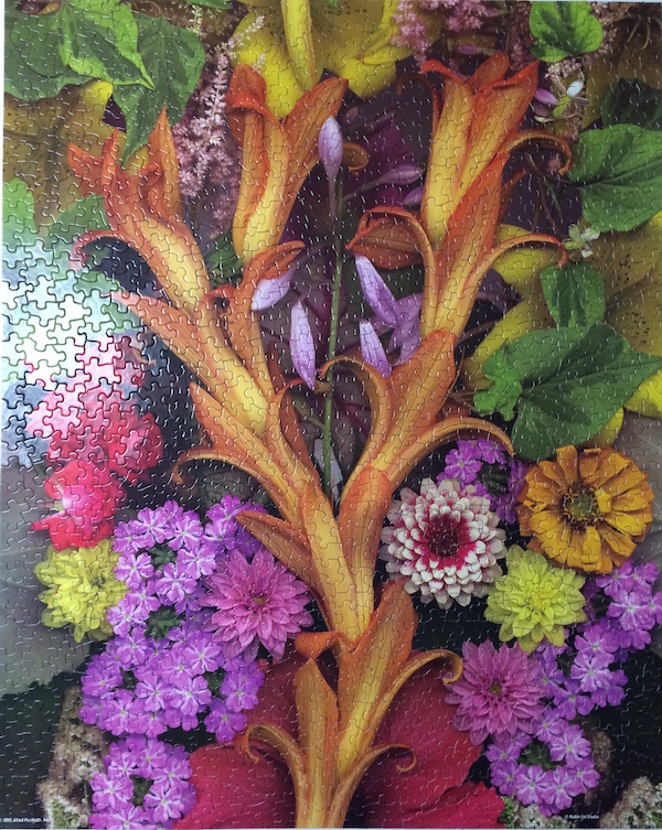 Brand: Springbok Title: Solstice Floral jigsaw puzzle Pieces: 1000 Size: 24