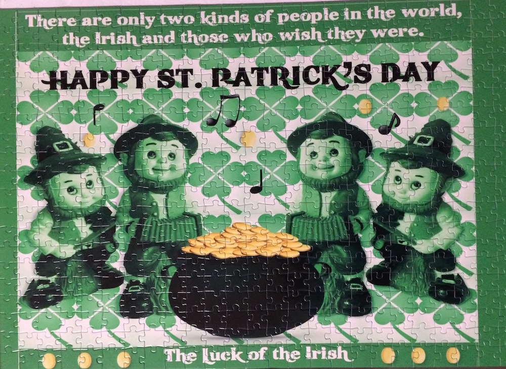 St Patricks puzzle self published Title: Luck of the Irish Size: 19