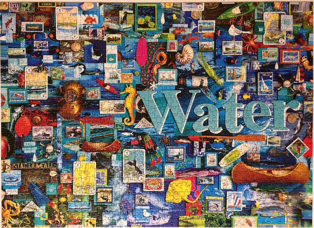 Water jigsaw puzzle