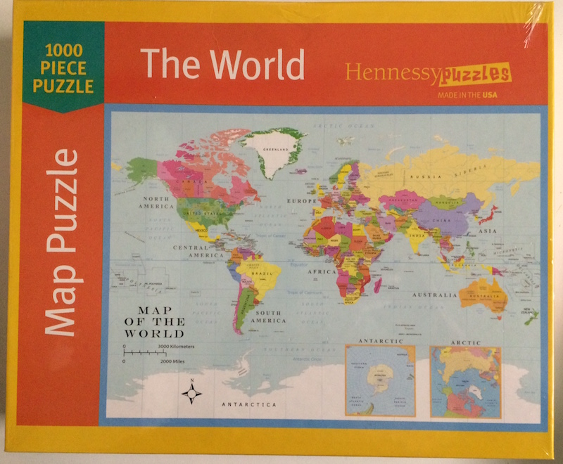Hennessy World Map Jigsaw Puzzle