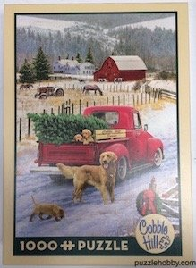 Christmas On The Farm - Cobble Hill Puzzle Company -  1000 Pieces - Size:  19.25x26.6.25