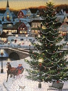 The Village Tree -  Cobble Hill Puzzle Company -  1000 Pieces - 19.25x26.6.25
