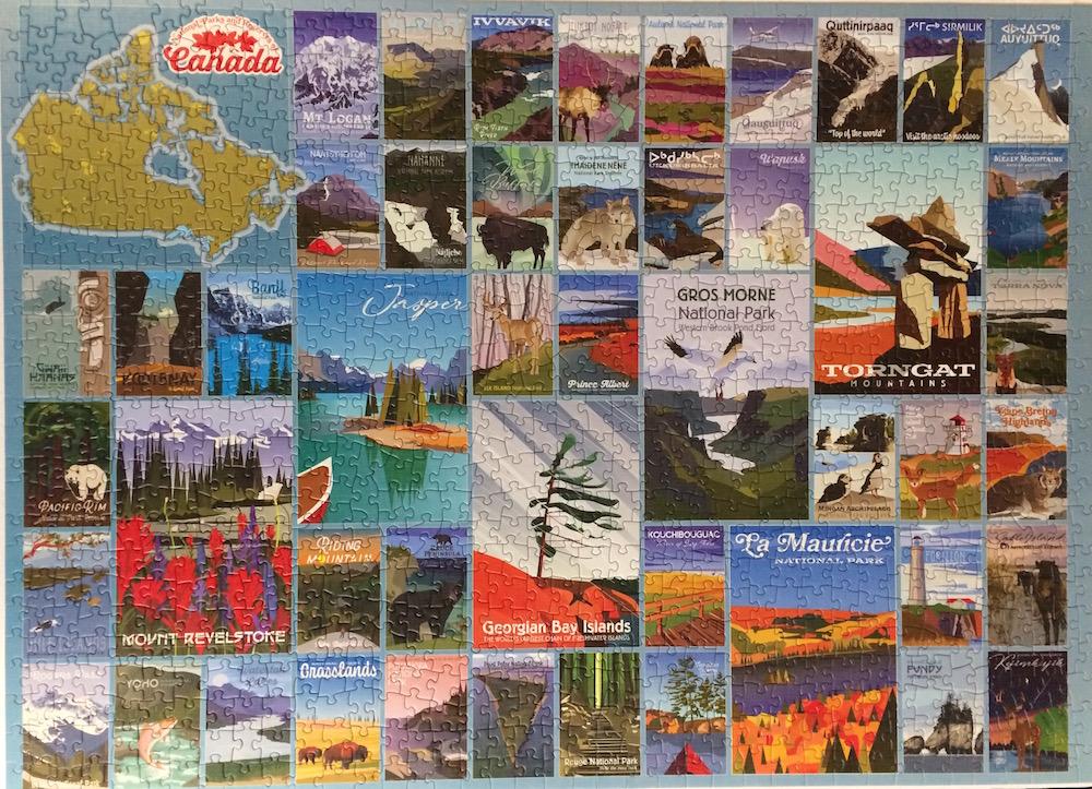 Brand: Cobble Hills Puzzle Company, Title:  Canada Parks Recreation Jigsaw Puzzle, Artist: Cobble Hills Company, Pieces: 1000, Size:  19.25