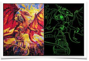 Ceaco-10-Glow-in-the-Dark-Best-Jigsaw-Puzzles