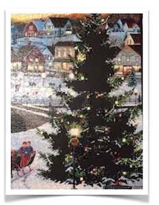 DOING the TREE -  The Village Tree -  Cobble Hill Puzzle Company -  1000 Pieces -  19.25