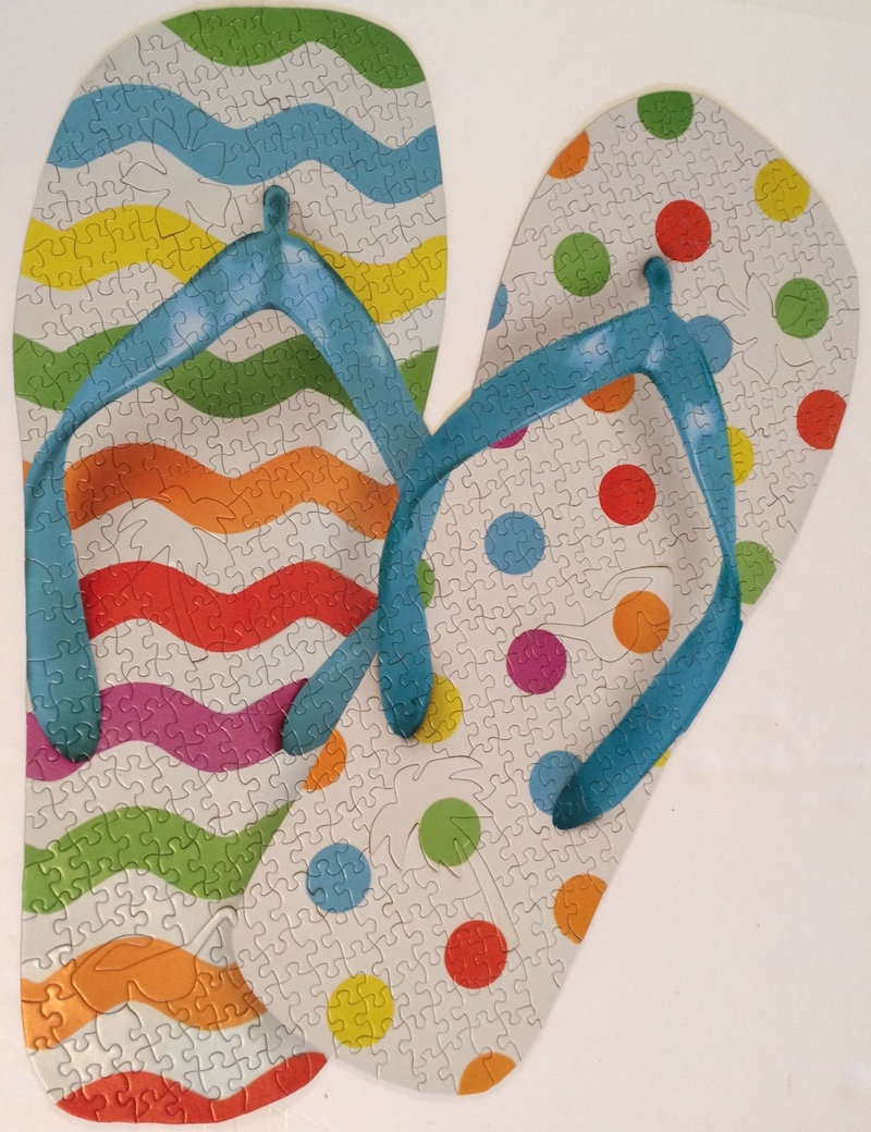 Brand: Paperhouse Title: Mixed Flip Flops jigsaw puzzle Pieces: 500 Size: 21