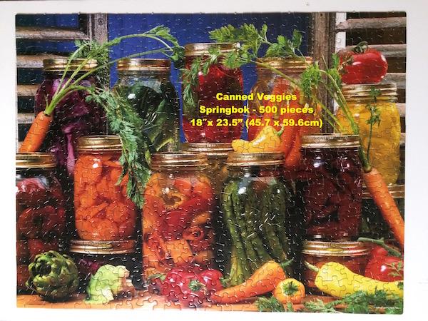 Title: Canned Veggies jigsaw puzzle Brand: Springbok