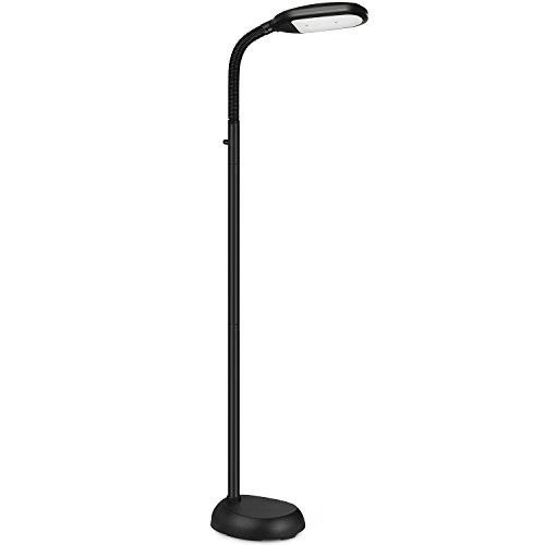 Jigsaw puzzle lights shine hai led floor lamp dimmable natural daylight sunlight led reading and craft standing light full spectrum adjustable gooseneck in any direction for aloadofball