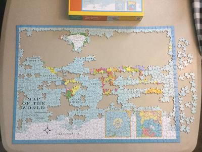 Hennessy jigsaw puzzle Map of the World-3